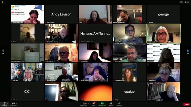 Community Board 1 Zoom General Board Meeting, Staten Island, NY - October 12, 2021
