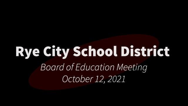 RCSD BOE 10-12-2021