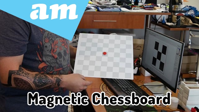 Make Magnetic Chessboard by Fiber Laser Marking Machine Section by Section on Steel Sheet