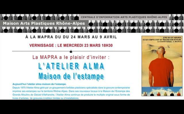 MAISON DE L'ESTAMPE : l'ALMA à la MAPRA