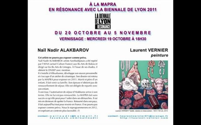 LAURENT VERNIER - Naïl Nadir ALAKBAROV du 20 octobre au 5 novembre 2011