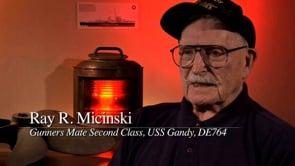 Ray Micinski, USS Gandy, DE-764