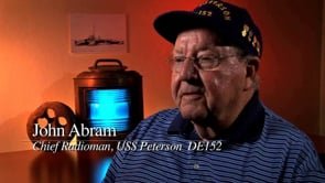 John Abram, USS Peterson, DE-152