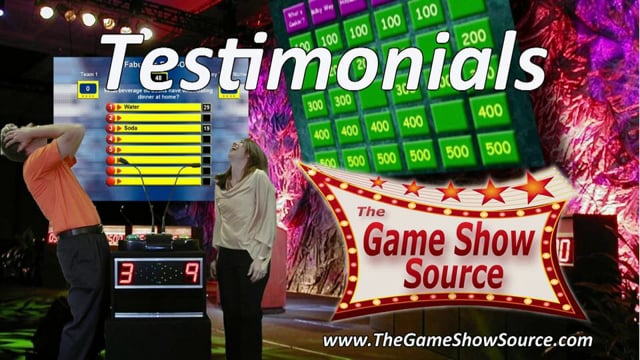 The Game Show Source Client Testimonials