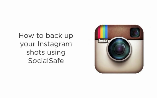 Back up your Instagram shots using SocialSafe