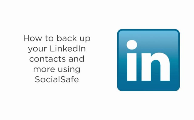 How to back up your LinkedIn contacts