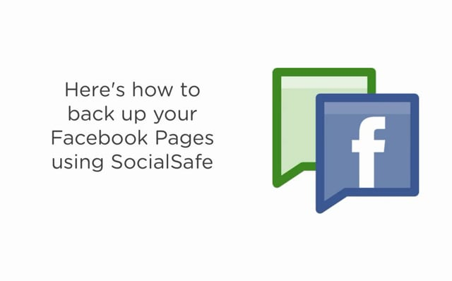 How to back up your Facebook Pages