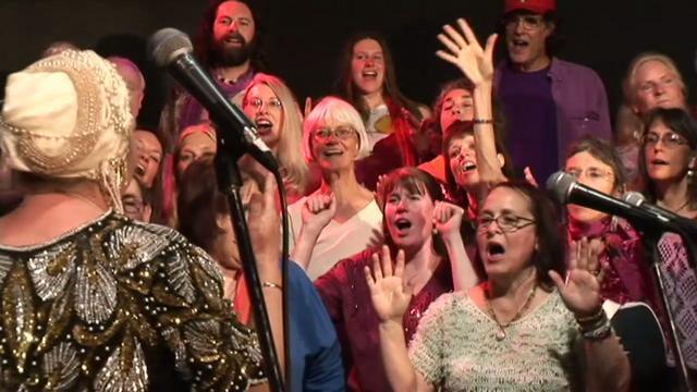 """Higher and Higher"" Jim Corbett and the Love Choir featuring Sister Hosanna"