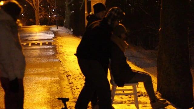 JJ in de sneeuw