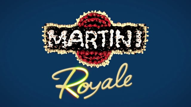 Martini Royale mixed by Bacardi People