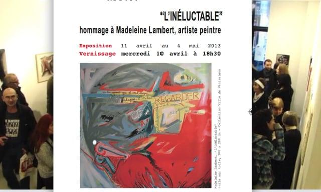 """""""Linéluctable"""" Hommage à Madeleine Lambert"""