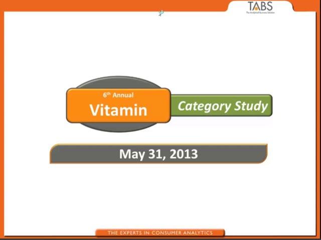 2013 Vitamin Study (05/31/2013)