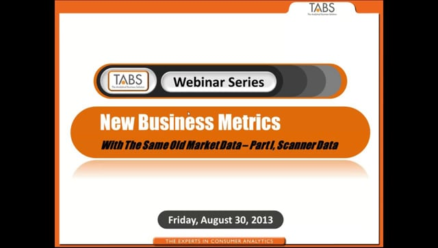 Part 1 - New Business Metrics with the Same Old Market Data (08/30/2013)