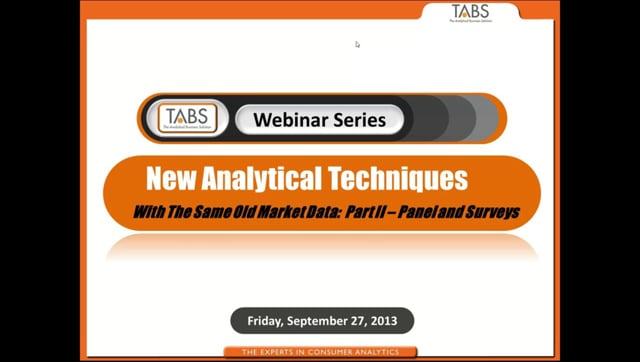Part 2 - New Business Metrics with the Same Old Market Data (09/27/2013)