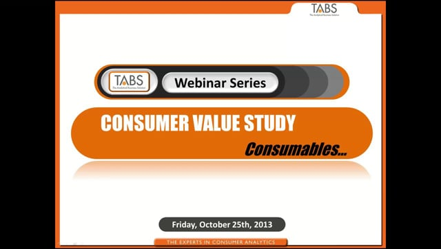 Consumer Value Study - Consumables (10/25/2013)