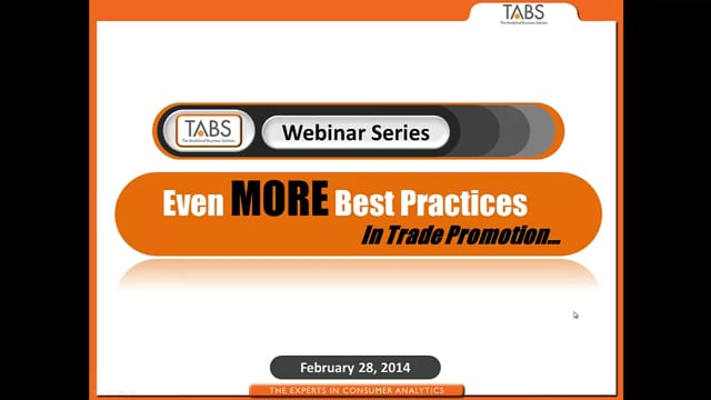 Even More Best Practices in Trade Promotion (02/28/2014)