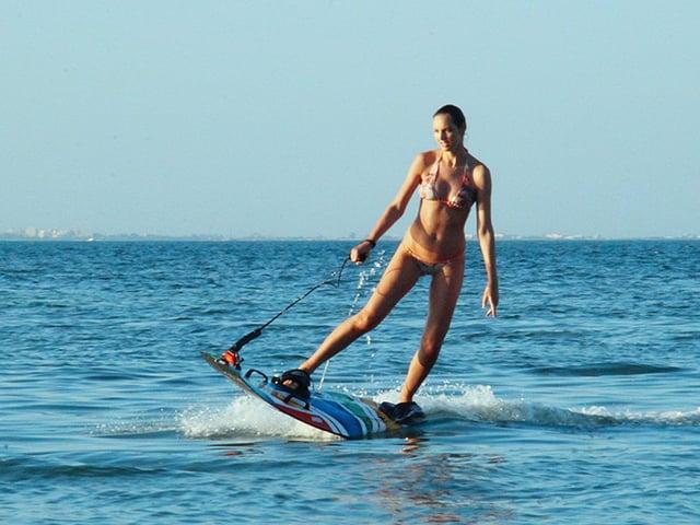 Jet surf, motorized surfboard jetsurf