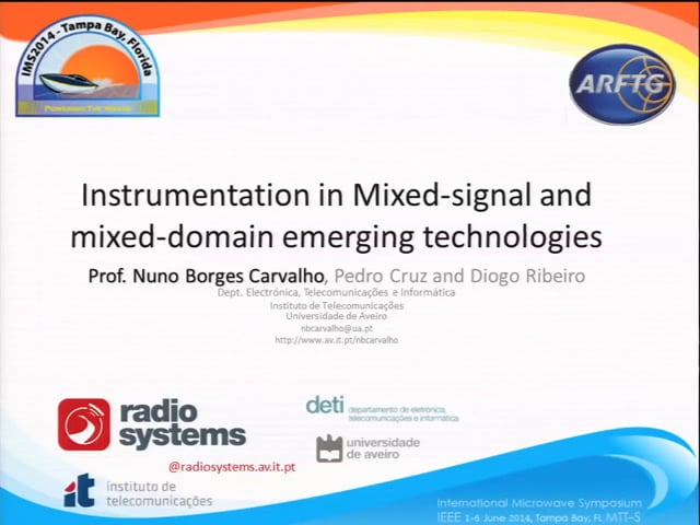 Instrumentation in Mixed-Signal and Mixed-Domain Emerging Technologies [ARFTG83, Carvalho]