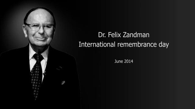 Dr. Felix Zandman International Remembrance Day 2014