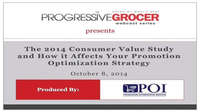 2014 Consumer Value Study (10/08/2014)