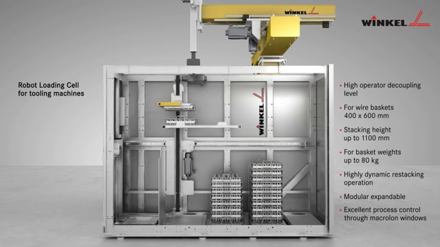 Winkel Robot Loading Cell for tooling machines | W-RLC-80