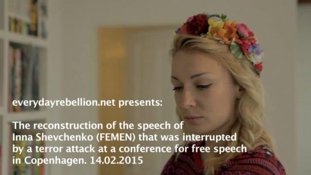 Reconstruction of the speech interrupted by terror attack in Copenhagen