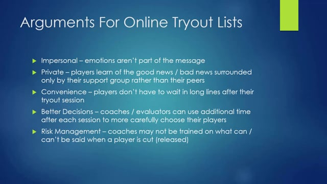 Tryout Lists - 1 - Introduction