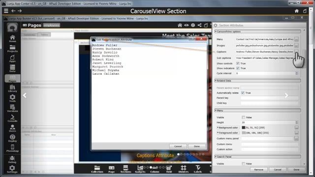 CarouselView Section showing how to set up a CarouselView Section