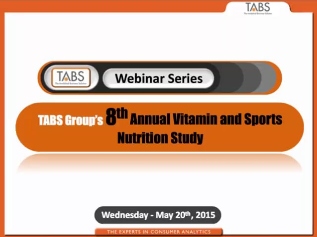 TABS Group 8th Annual Vitamin and Sports Nutrition Study Webinar (5/20/15)