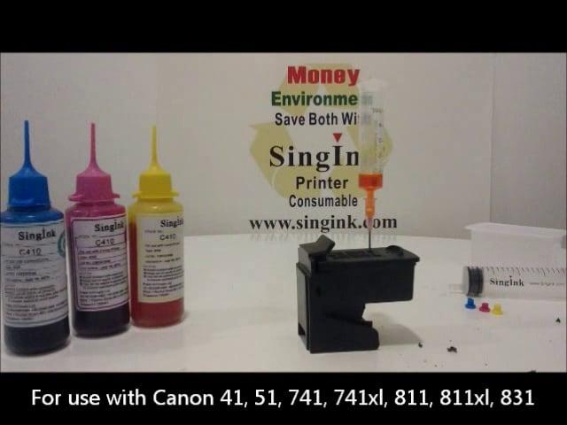 Bottle refill video for Canon