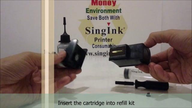 Bottle refill video for Canon cartridge PG 830, 40, 810, 740, 745