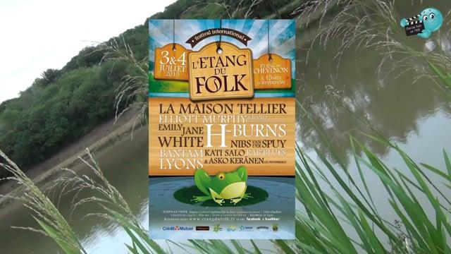 Rencontre avec le Président de Festibal sur le site du concert de l'événement de l' Etang du Folk à Chevenon.