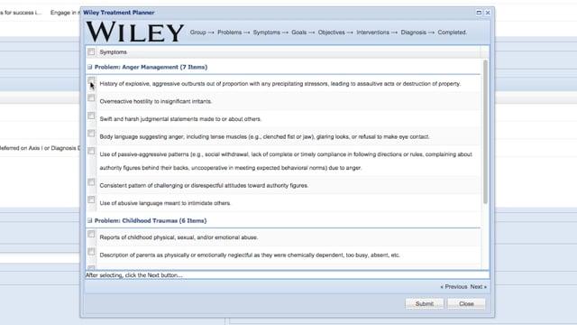 Wiley Practice Planner Content