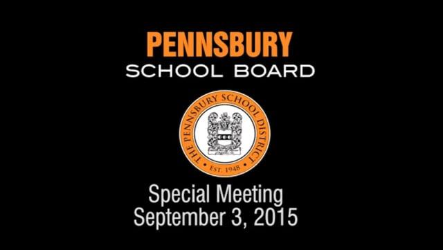 Pennsbury School Board Meeting for September 3, 2015
