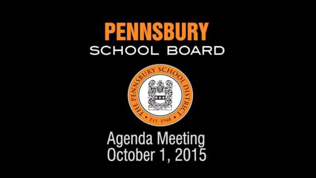 Pennsbury School Board Meeting for October 1, 2015