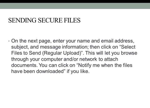 Sending Secure Files to RMS