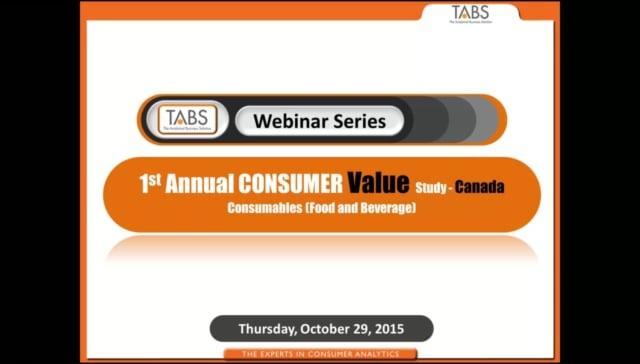 TABS 1st Annual Consumer Value Study - Canada (10/29/2015)
