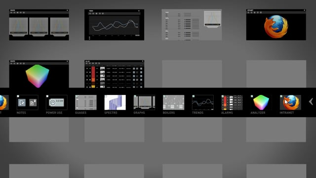 Control Systems Interface - Zooming Panels