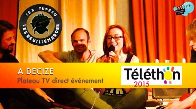 Decize fait sa télé à Decize au téléthon 2015 - LEA TUPELO ET LES REUILLMARDES
