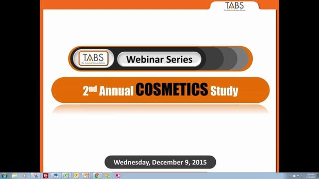 TABS 2nd Annual Cosmetic Study (12/09/2015)
