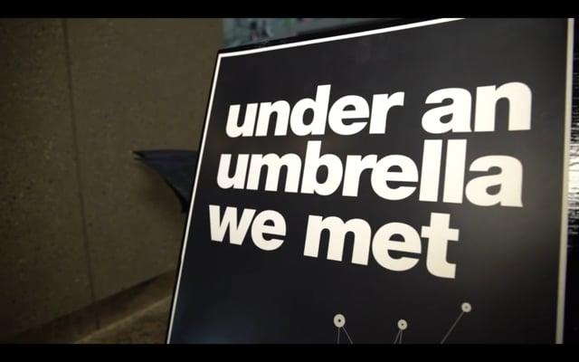 Inside the Exhibit | under an umbrella we met