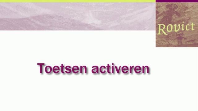 ESIS: Toetsen activeren