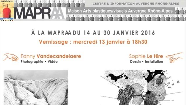 SOPHIE LE HIRE et FANNY VANDECANDELAERE MAPRAA 2016