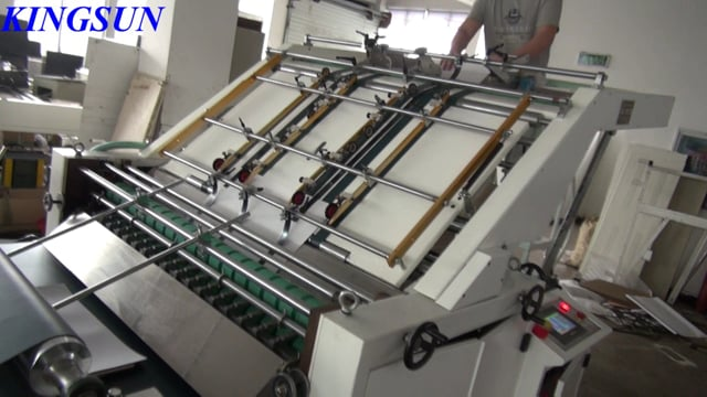 Semi-automatic Flute Laminating Machine -  Kingsun Machinery