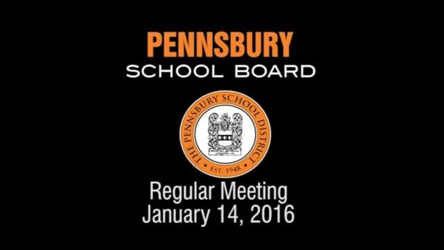 Pennsbury School Board Meeting for January 14, 2016