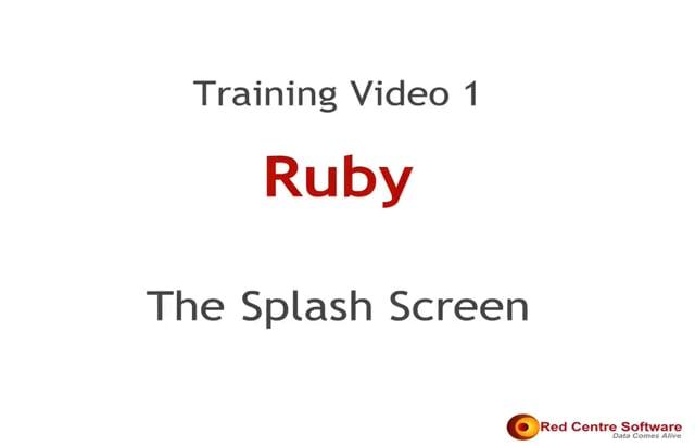 1. Ruby's Splash Screen