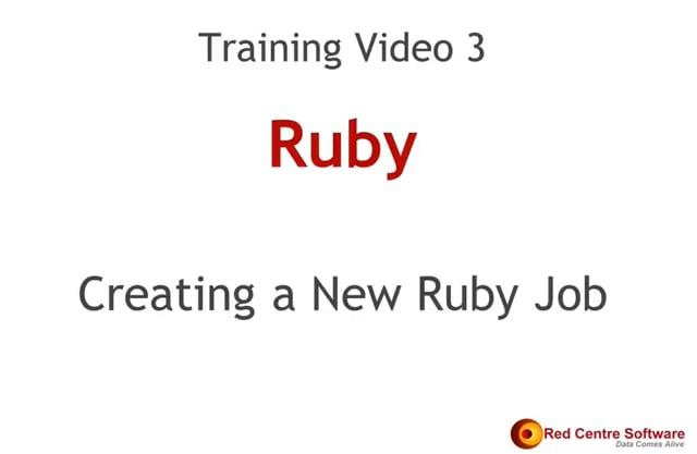 3. Creating a New Ruby Job