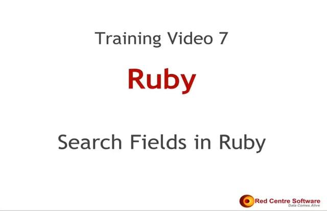 7. Search Fields in Ruby
