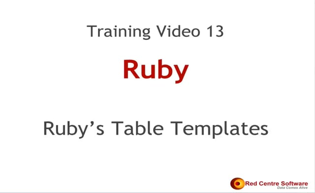 13. Ruby's Table Templates