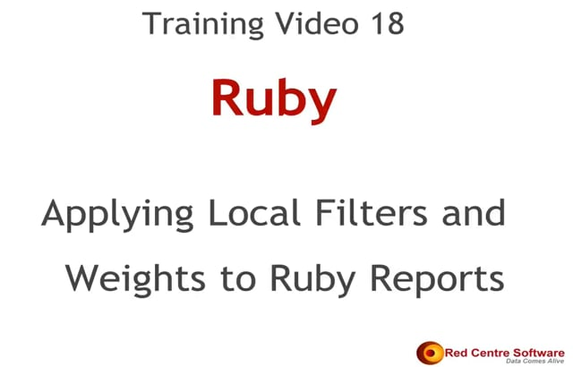 18. Applying Local Filters and Weights to Ruby Reports